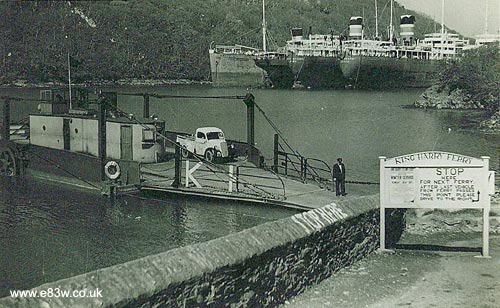 E83W pickup on the King Harry ferry