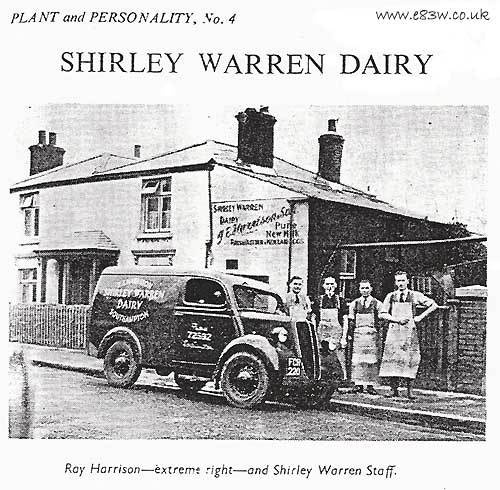 A van owned by a dairy