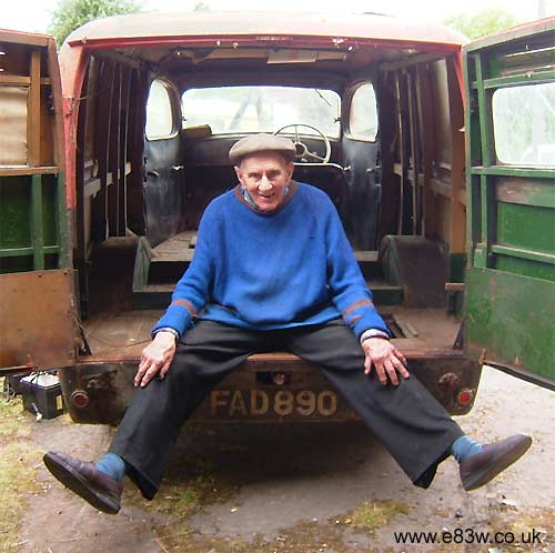 The vans original 80yr old owner