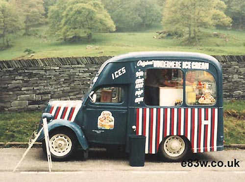 Ice cream van in the Lake District